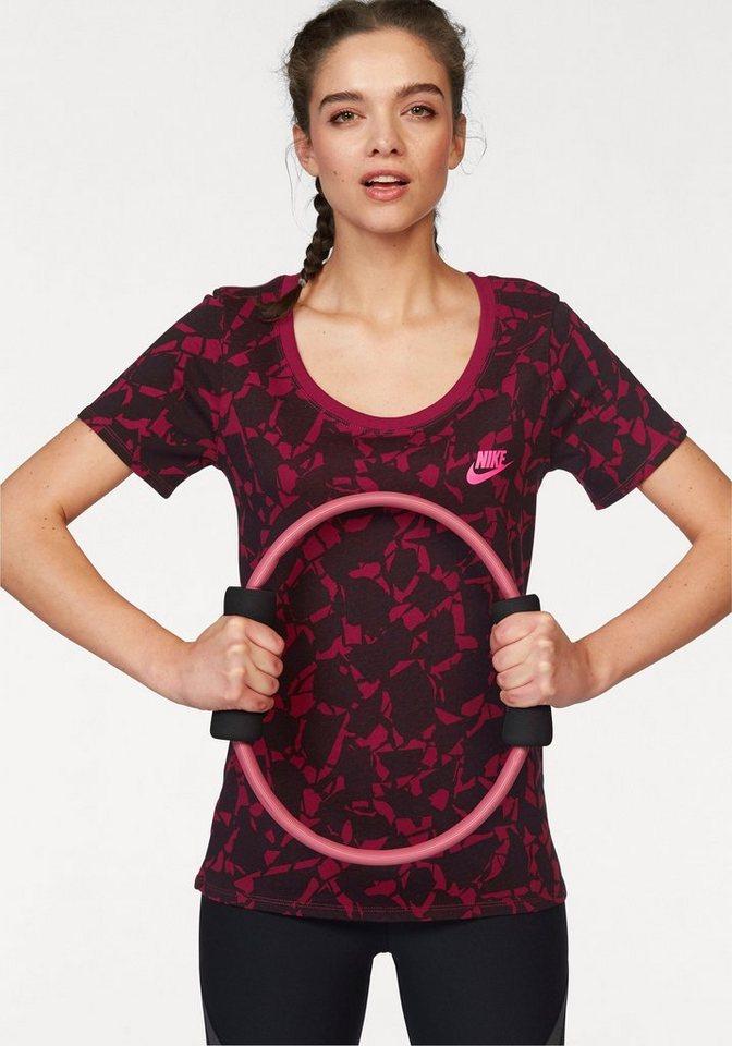 Nike T-Shirt »TEE-CATEGORY AOP SCOOP« in rot-schwarz