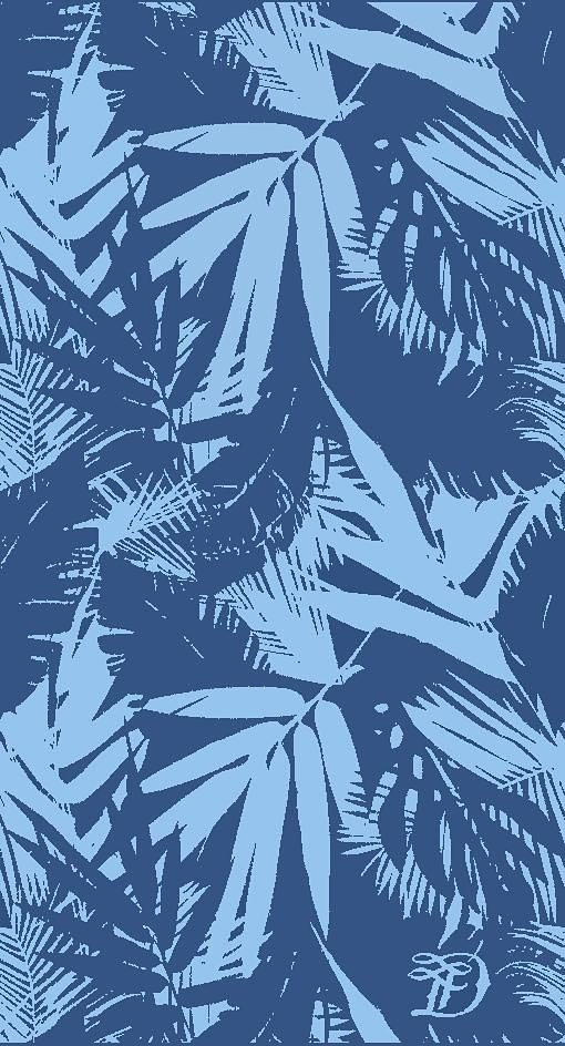 Strandtuch, Tom Tailor, »Palm Tree«, mit Palmenblättern