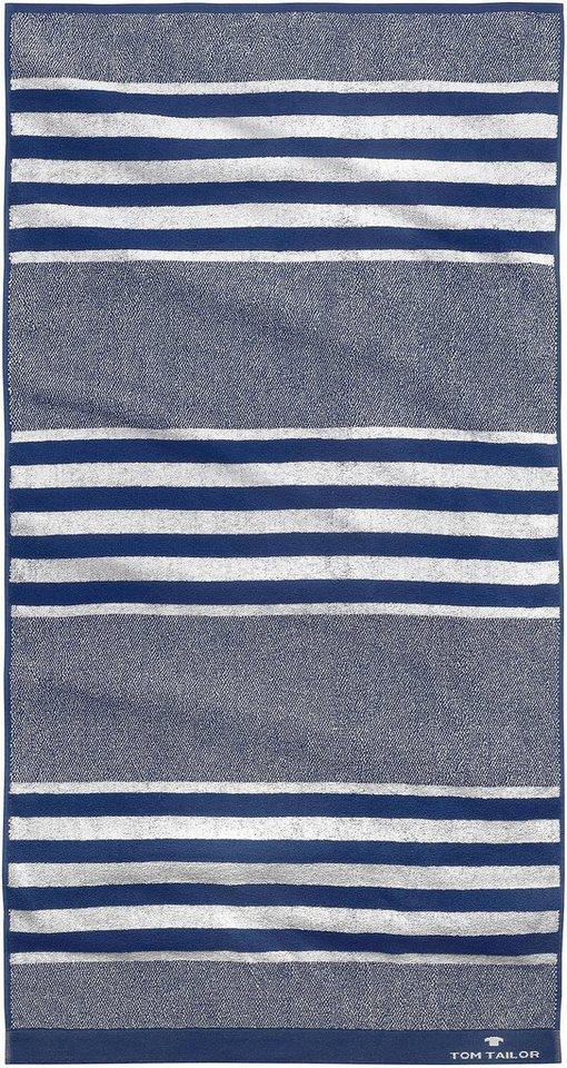 Handtücher, Tom Tailor, »Sprint«, mit Streifen in marine