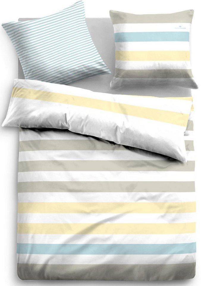 Bettwäsche, Tom Tailor, »Fidelius«, mit gleichmäßigen Streifen in multi