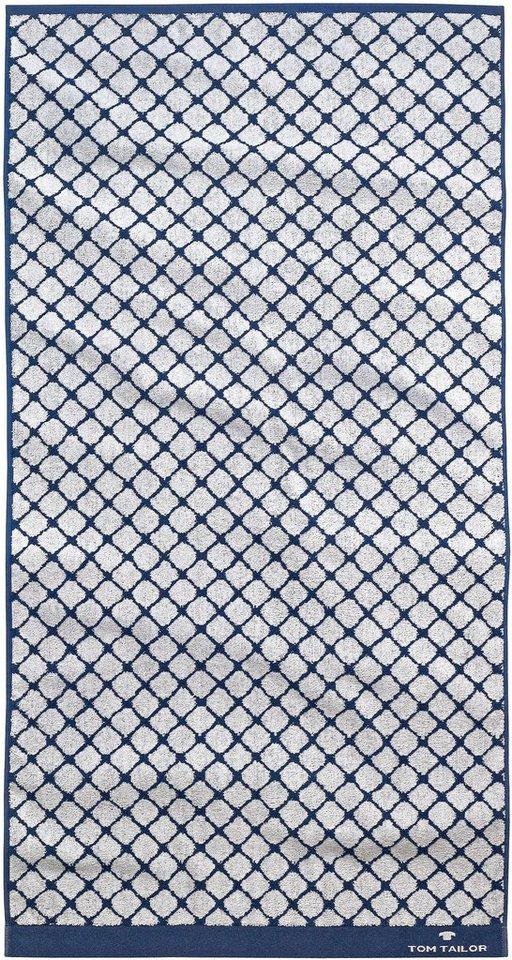 Handtücher, Tom Tailor, »Andrew«, mit Netz-Optik in marine