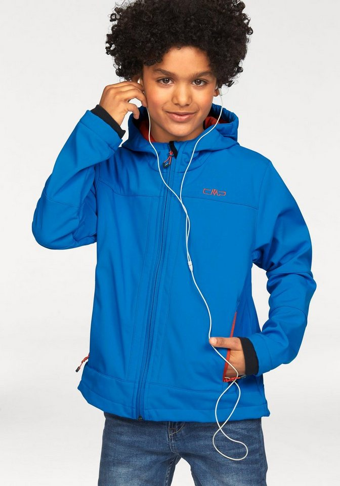 CMP Softshelljacke Wind- und wasserdicht in blau-orange
