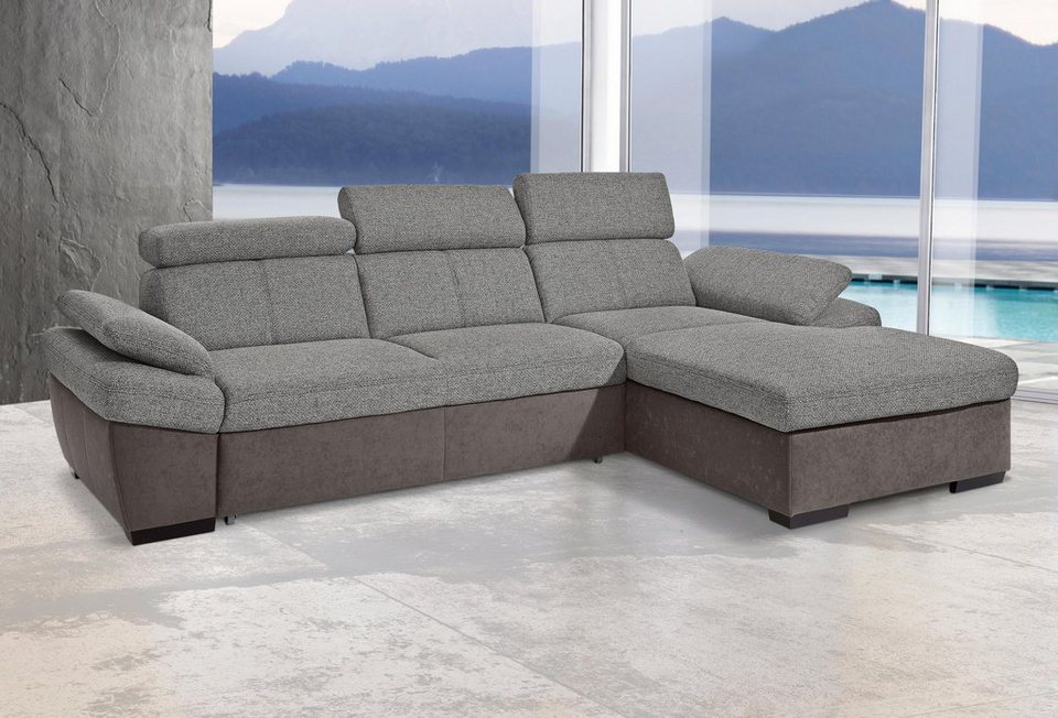 exxpo sofa fashion polsterecke mit recamiere wahlweise mit bettfunktion in 3. Black Bedroom Furniture Sets. Home Design Ideas