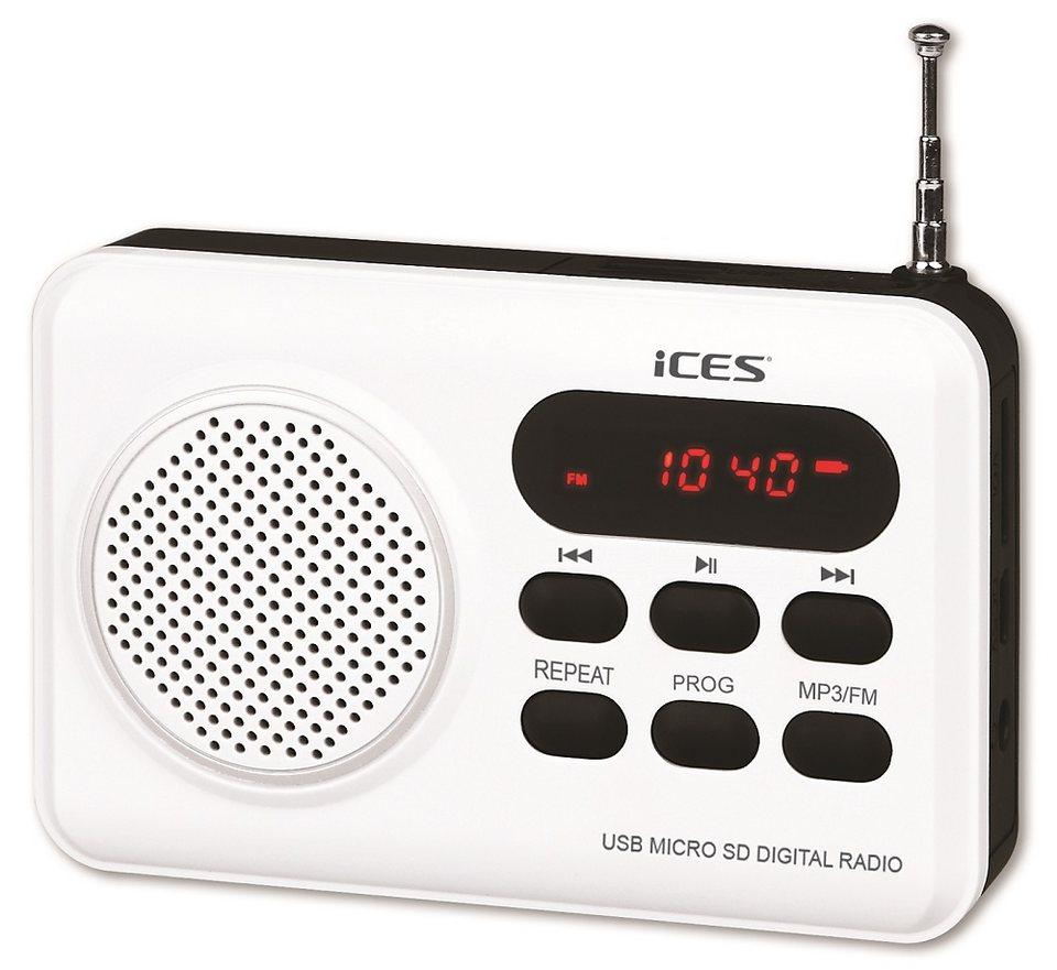 Lenco / iCES - Tragbares PLL FM Radio mit 50 Stationsspeicher »iCES IMPR-112« in weiss