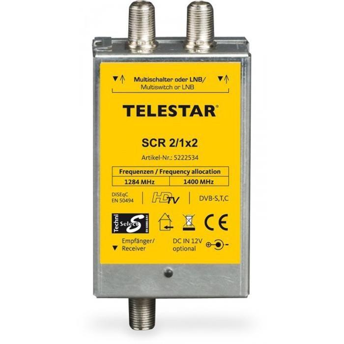 TELESTAR Digitale Einkabellösung »SCR 2/1x2« in silber-gelb