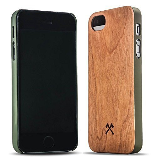 Woodcessories EcoCase - iPhone SE / 5 / 5s Echtholz Case - Cassius in braun