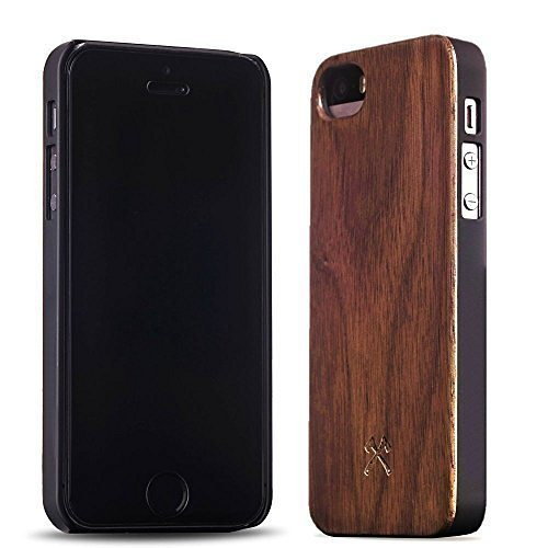 Woodcessories EcoCase - iPhone SE / 5 / 5s Echtholz Case - Carlton in braun