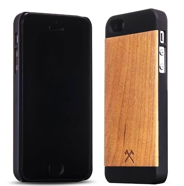 Woodcessories EcoCase - iPhone SE / 5 / 5s Echtholz Case - Cirill in braun
