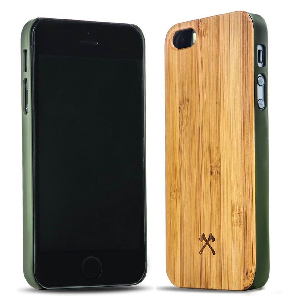 Woodcessories EcoCase iPhone SE / 5 / 5s Echtholz Case - Cliff in braun