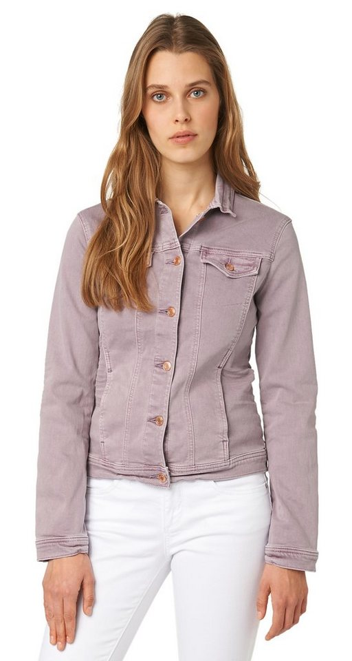 TOM TAILOR Jacke »sommerliche Jeans-Jacke« in light violet taupe