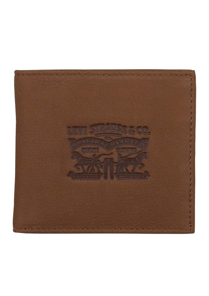 LEVI`S® Geldbörse aus Leder mit Prägung