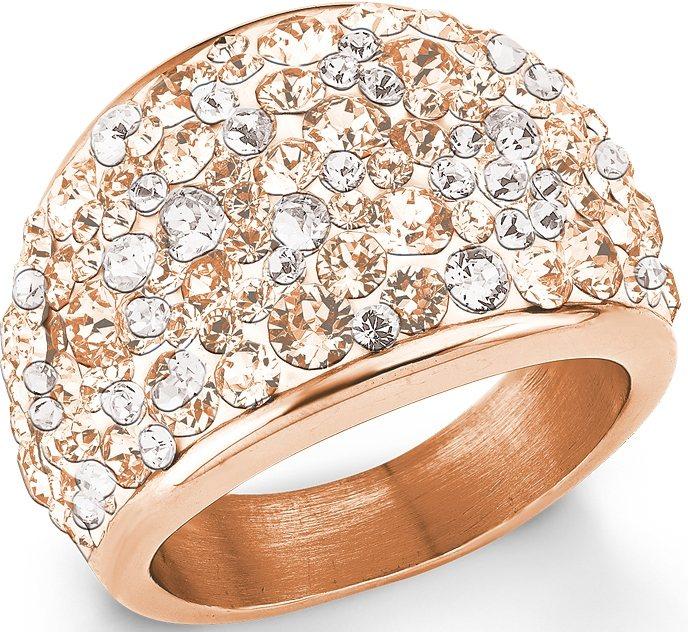 s.Oliver Ring mit Swarovski® Kristallen, »SO1428/2-5« in roségoldfarben-weiß- pfirsich-rosé