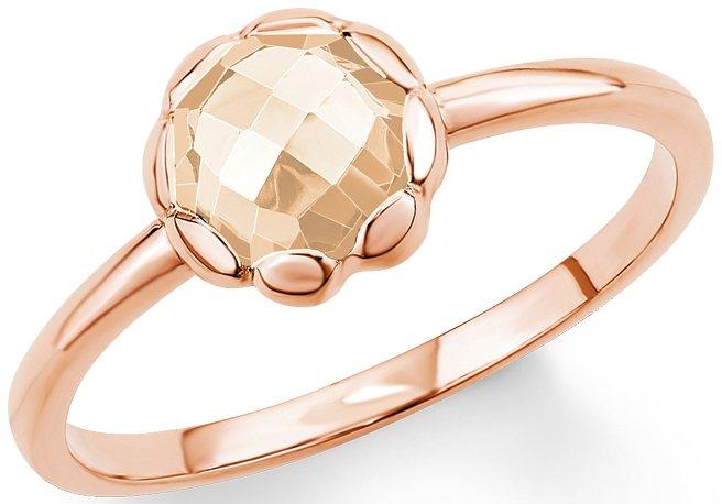 s.Oliver Ring mit Zirkonia, »SO1420/1-4« in Silber 925-18 Karat roségoldfarben vergoldet-champagnerfb.