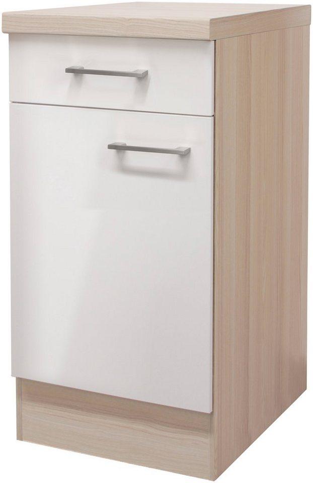 Küchenunterschrank »Oregon«, Breite 40 cm in perlmuttfarben/akaziefarben