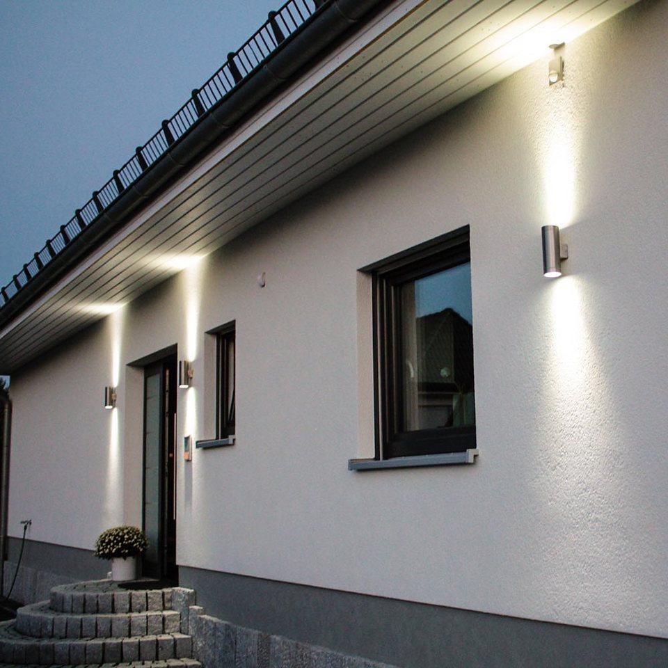 s.LUCE Wandlampe »Steel Up & Down Aussen-Wandleuchte« in Silber