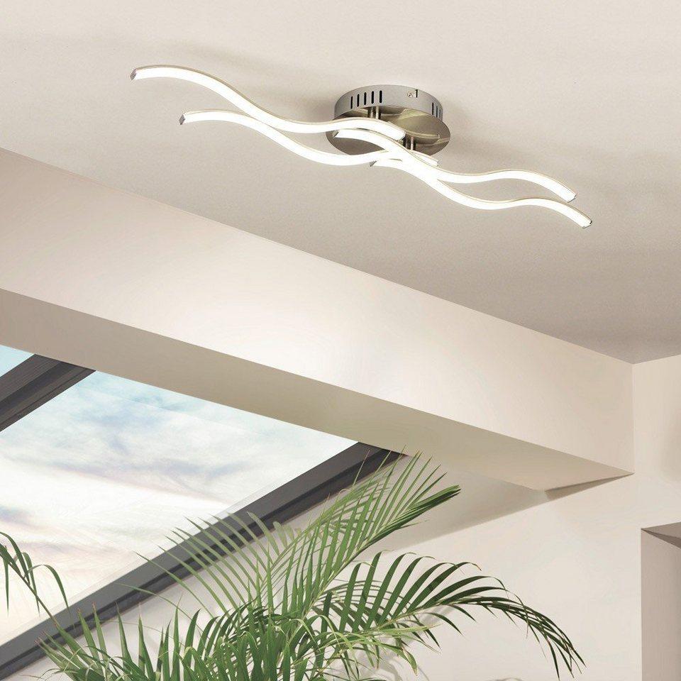 Licht-Trend Deckenleuchte »Wavy LED-Deckenleuchte in Nickel Matt« in Silber