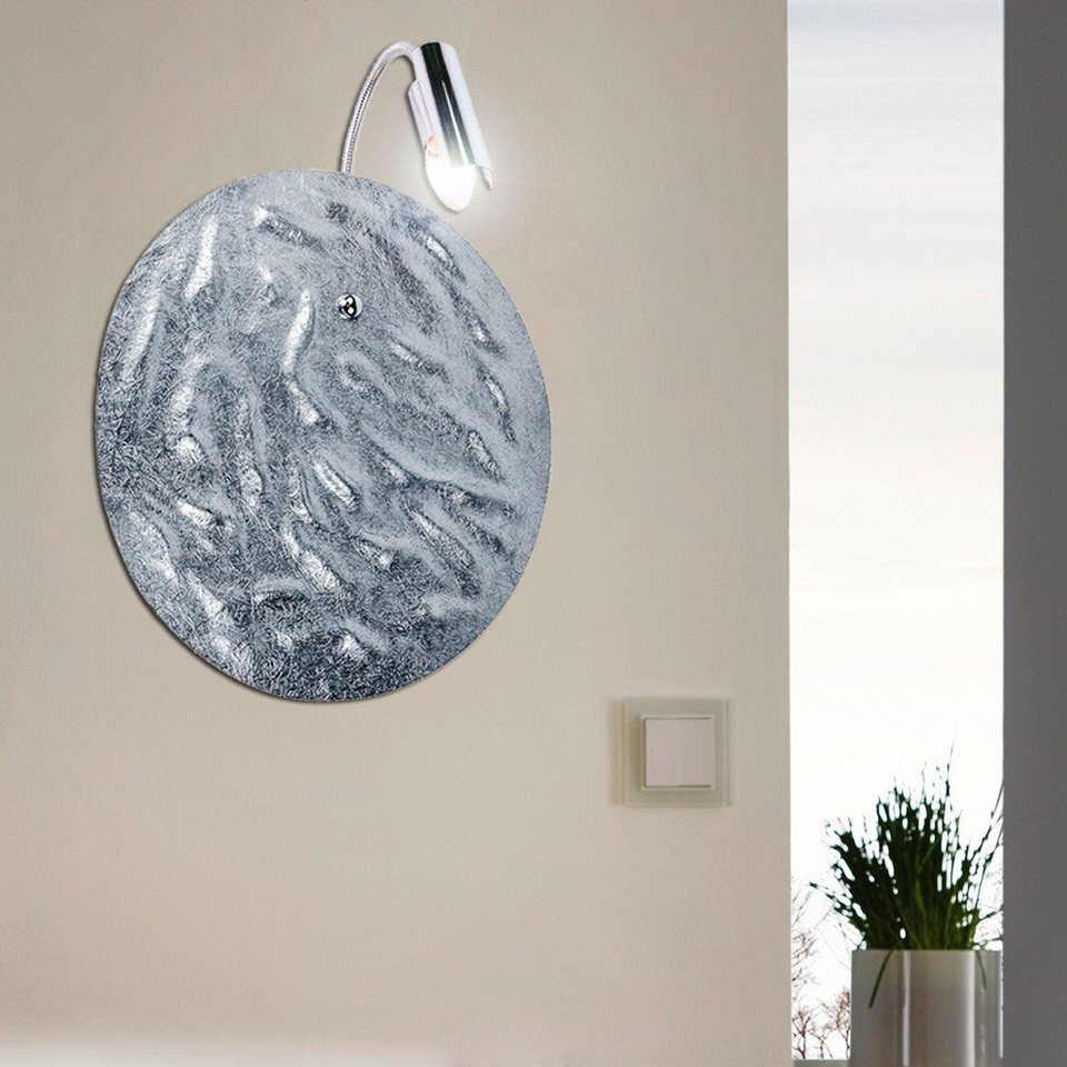 s.LUCE Wandlampe »Blister silber 1-flammig Ø 40 cm« in Silber