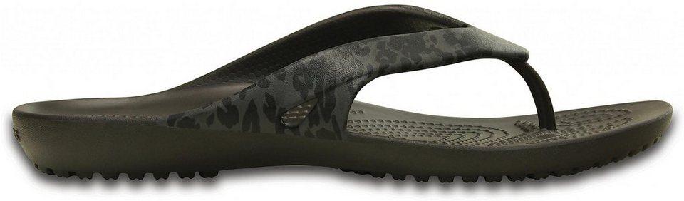 Crocs Infradito »Kadee II Leopard Print Flips Women« in schwarz