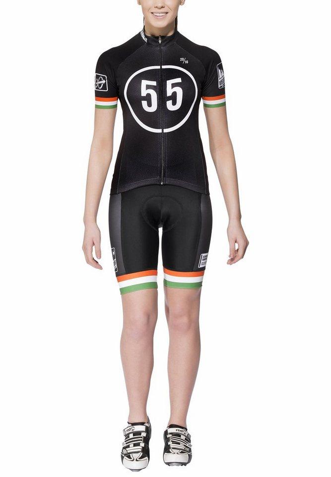 Bioracer Radtrikot »Eschborn-Frankfurt 55 Pro Race Set Women« in schwarz