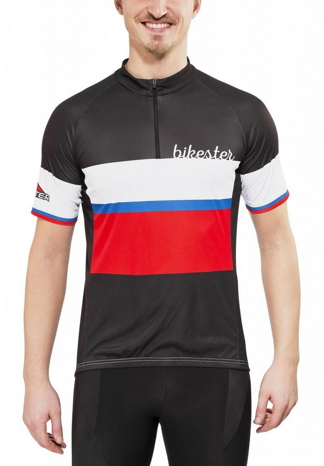 Bikester Radtrikot »Basic Team Jersey Men« in schwarz