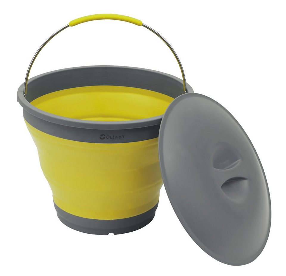 Outwell Wasserkanister »Collaps Bucket with Lid« in gelb