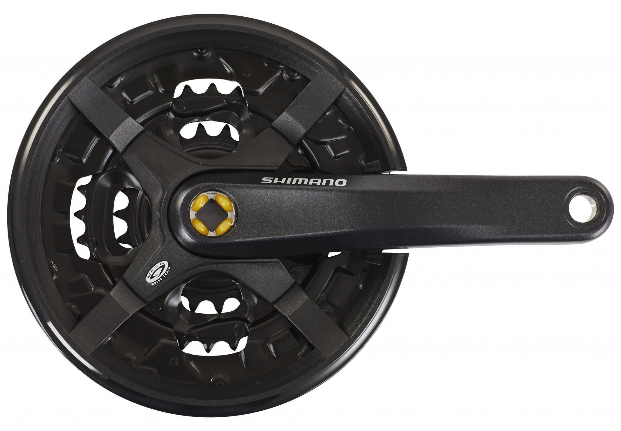 Shimano Kurbel »Shimano FC-M351 Kurbelgarnitur MTB Vierkant 9-fach«