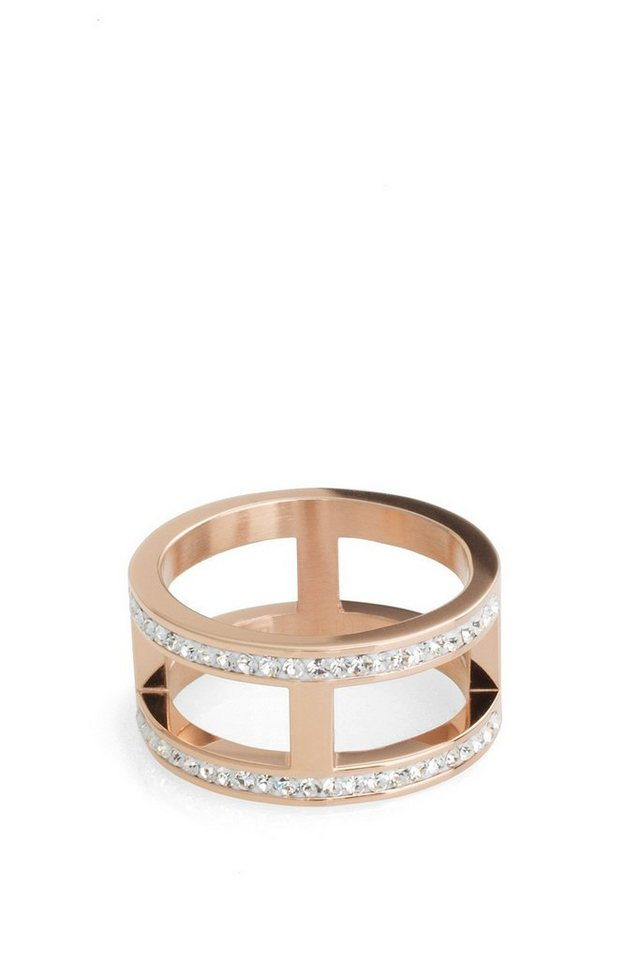 ESPRIT CASUAL Edelstahl / Rotgold / Zirkonia Ring in one colour