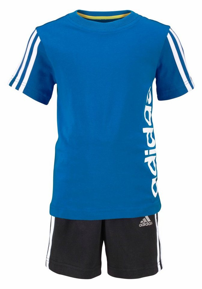 adidas Performance Sportanzug »ESSENTIALS STREET SUMMER SET« in blau-schwarz