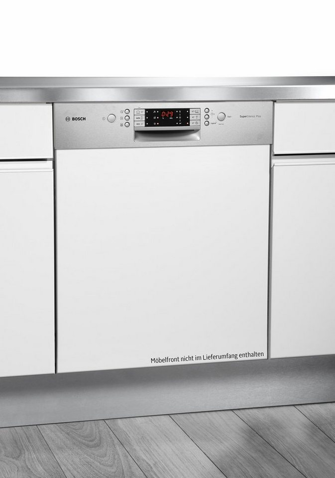 Bosch integrierbar Einbaugeschirrspüler SMI69P45EU, A++, 9,5 Liter, 14 Maßgedecke in edelstahl