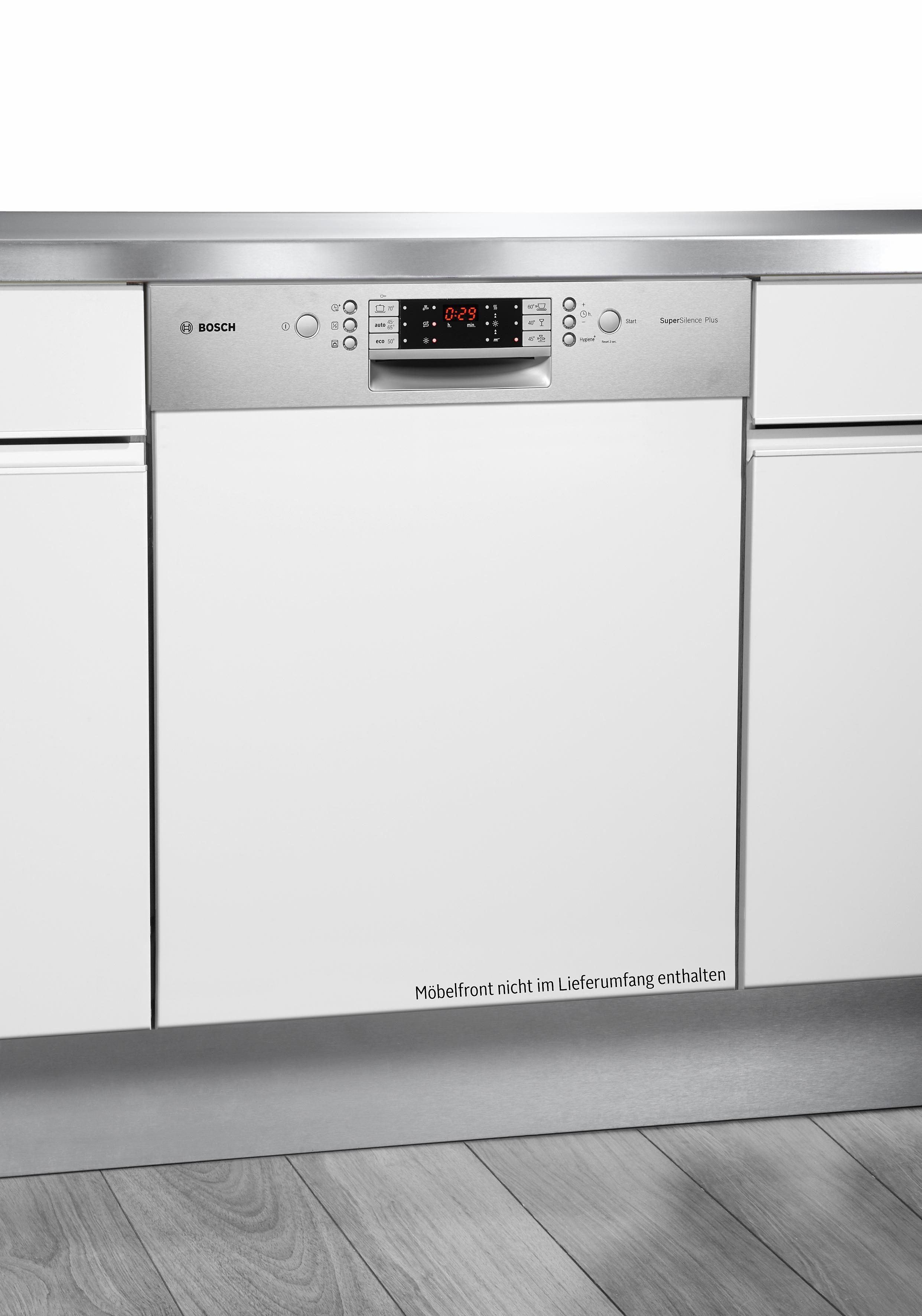 Bosch integrierbar Einbaugeschirrspüler SMI69P45EU, A++, 9,5 Liter, 14 Maßgedecke