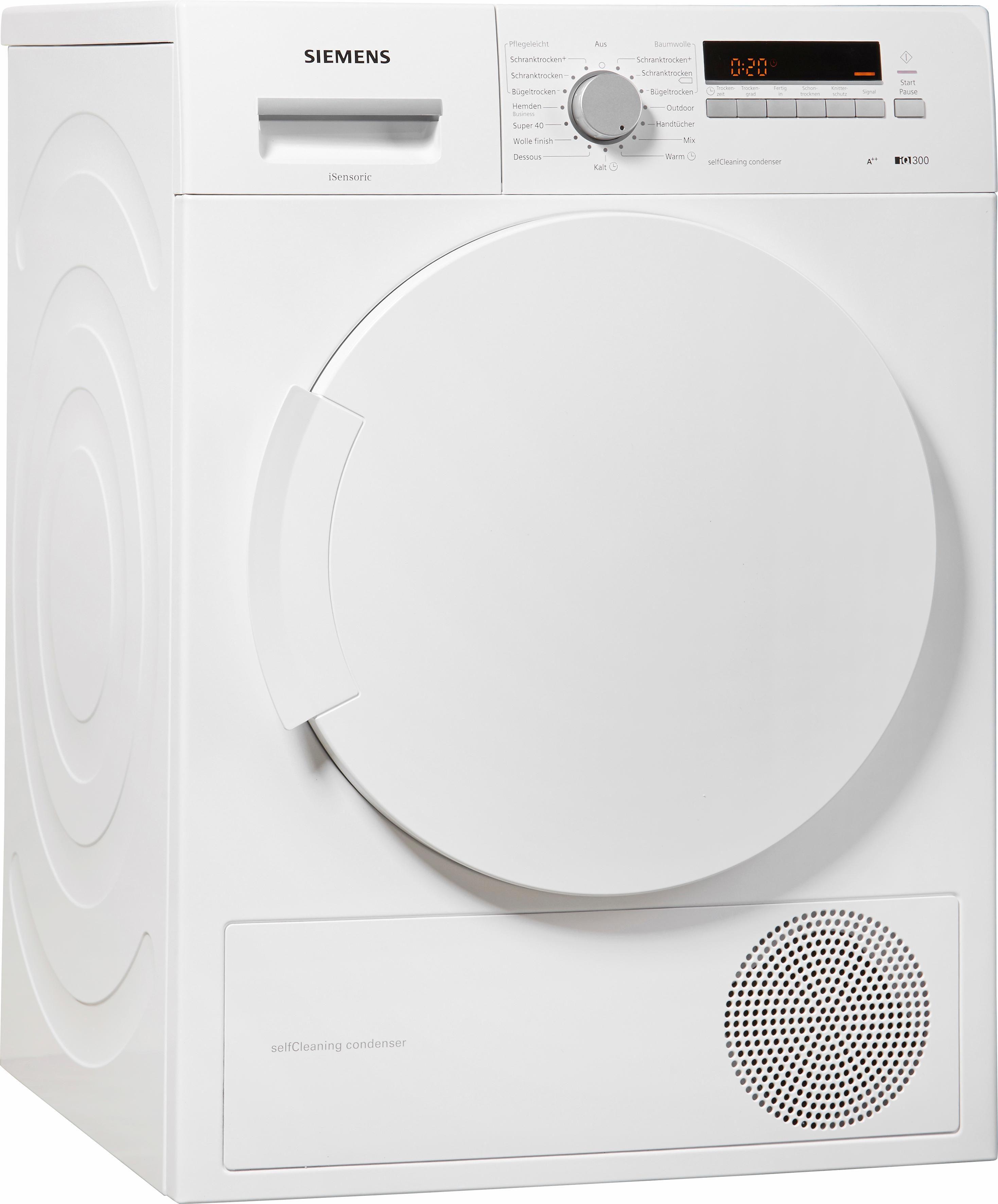 SIEMENS Trockner iQ300 WT43W260, A++, 7 kg