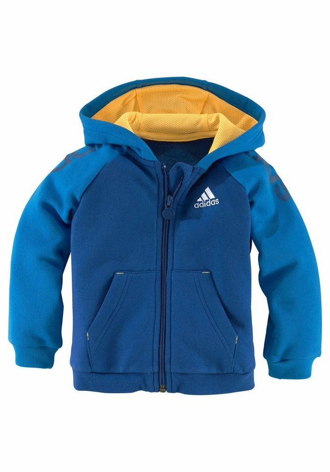 adidas performance jogginganzug infants 3 stripes full zip hoodie. Black Bedroom Furniture Sets. Home Design Ideas