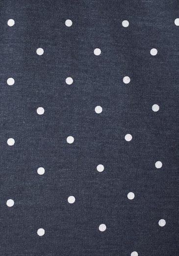 Neun Monate Umstandssweatshirt, mit Pünktchen