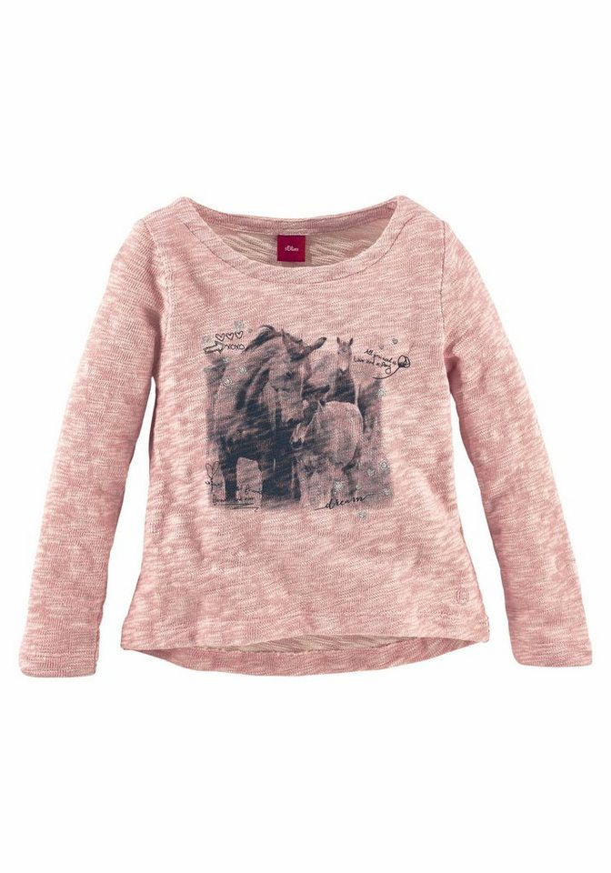 s.Oliver RED LABEL Junior Sweater in rosa-meliert