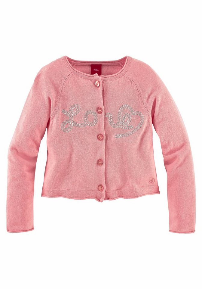 s.Oliver RED LABEL Junior Strickjacke in rosa