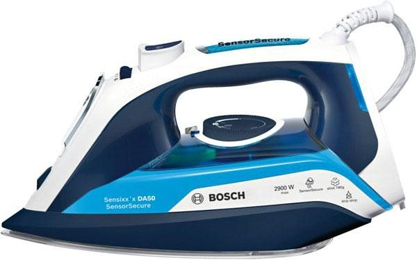Bosch Dampfbügeleisen Sensixx'x DA50 SensorSecure TDA5029210, CeraniumGlissée Bügelsohle, 2900 Watt in magic night blue