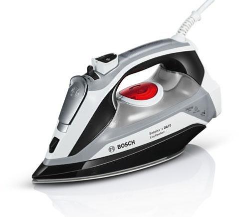 Bosch Dampfbügeleisen Sensixx'x DA70 EasyComfort TDA70EASY, CeraniumGlissée Bügelsohle, 2400 Watt in weiß/schwarz