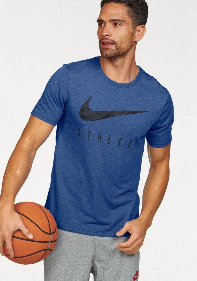 Nike T-Shirt »DRIBLEND MESH SWOOSH ATHLETE TEE« in blau-meliert