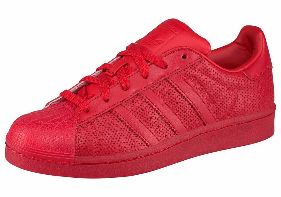 adidas Originals Superstar adicolor Sneaker in Rot