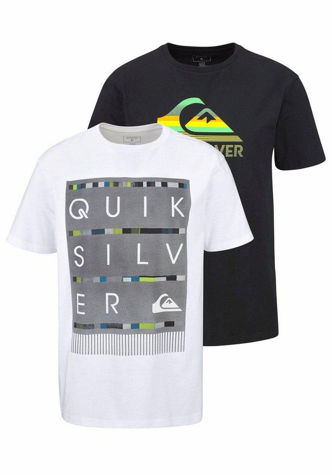 Quiksilver T-Shirt in schwarz+weiß