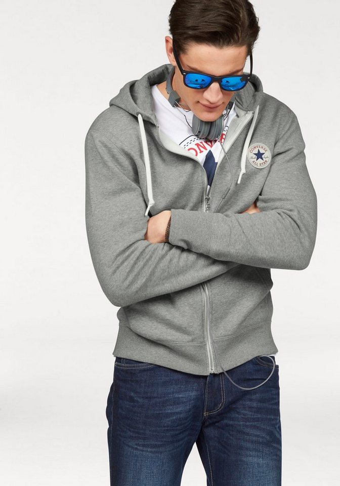 Converse Sweatjacke in grau