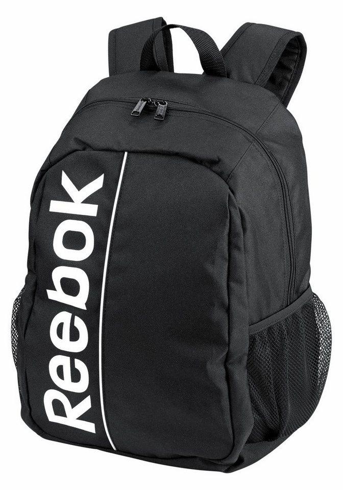 Reebok Sport Royal Backpack Rucksack in schwarz-bedruckt
