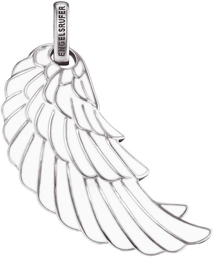 Engelsrufer Flügelanhänger »Where the angels fly, FLÜGEL EMAILLE WEISS, ERW-L2-ENW« mit Emaille