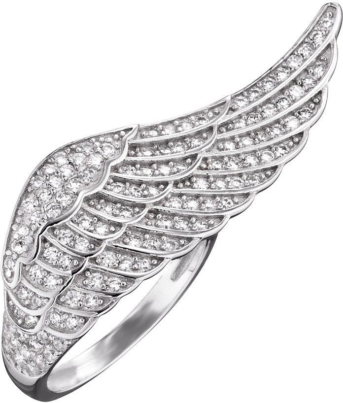 Engelsrufer Fingerring »Flügel Silber Crystal, ERR-WING-01-ZI« mit Zirkonia in Silber 925