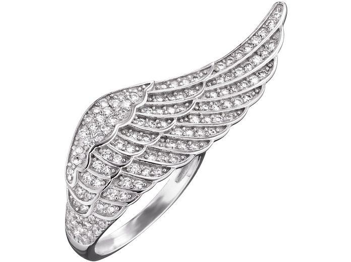 Engelsrufer Fingerring »Flügel Silber Crystal, ERR-WING-01-ZI« mit Zirkonia