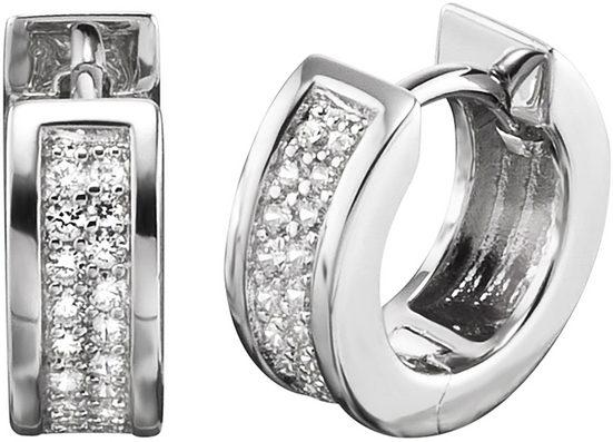 Engelsrufer Paar Creolen »Bright like a diamond, CREOLE LENA CRYSTAL, ERE-LENA-ZI-CR«, mit Zirkonia