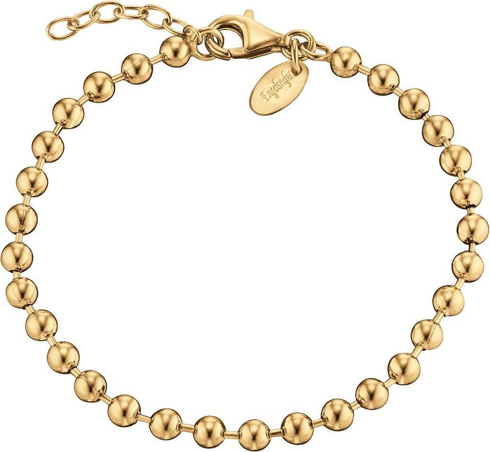 Engelsrufer Armband, »ERBK-20-4G« in Silber 925-18 Karat goldfarben vergoldet