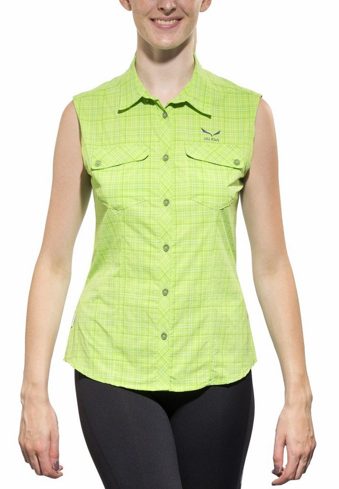 Salewa Bluse »Kyst 2.0 Sleeveless Shirt Women Dry« in grün