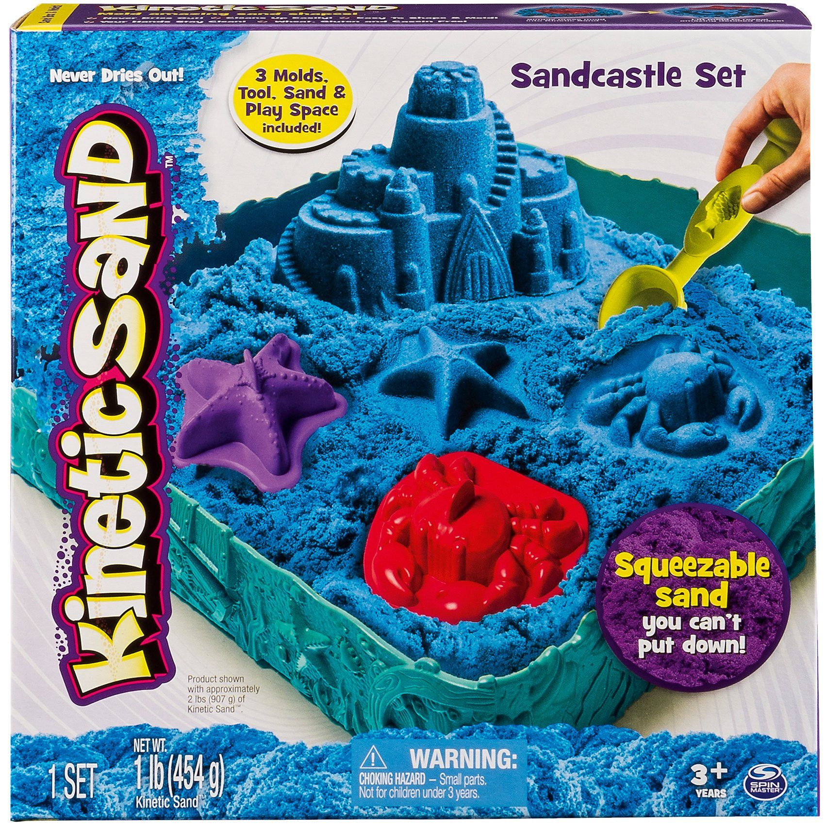 Spin Master Kinetic Sand Box Set, blau