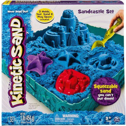 Spin Master Kinetic Sand™ Sandkasten Set, 454g + 5-tlg. Zubehör